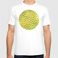 Boucle Pattern Mens Fitted Tee White SMALL