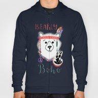 Bearly Boho Polar Bear H… Hoody