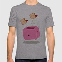 Toast! Mens Fitted Tee Athletic Grey SMALL