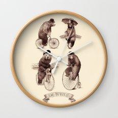 Bears on Bicycles Wall Clock