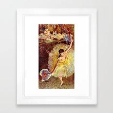 Dancer with Bouquet Framed Art Print
