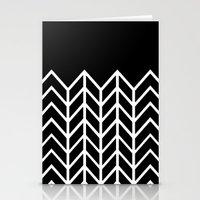 BLACK LACE CHEVRON Stationery Cards