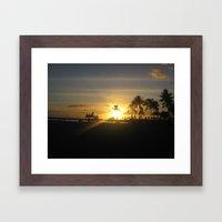 Golden Hawaiian Sunset Framed Art Print