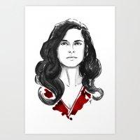 Alana Bloom - Hannibal Tryptch Art Print