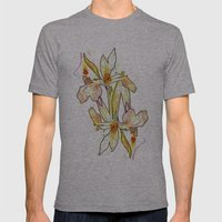 Queen Flower Mens Fitted Tee Athletic Grey SMALL