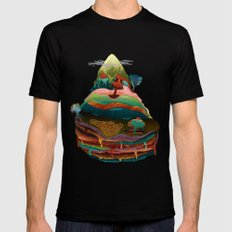 The Mountain SMALL Black Mens Fitted Tee