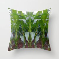 Aliens In The Maize Throw Pillow