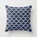 VINTAGE in NAVY Throw Pillow
