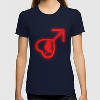 Sailor Mars Womens Fitted Tee Navy SMALL