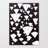 Snowing Pyramids II Canvas Print