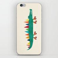 Crocodile On Roller Skat… iPhone & iPod Skin