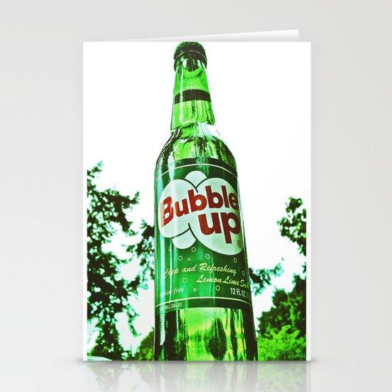 Refreshing Bubble Up soda Stationery Card
