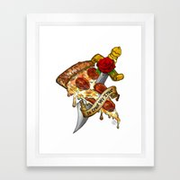 Slice Slice Baby Framed Art Print