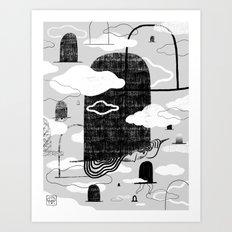 Wandering Hats Art Print