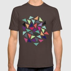 Geometric Pattern Mens Fitted Tee Brown SMALL