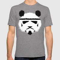Panda Trooper Mens Fitted Tee Tri-Grey SMALL