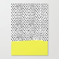 Polka dot rain dip Canvas Print