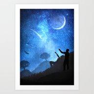 Beneath The Stars Art Print