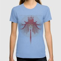 Crown Ruby Womens Fitted Tee Athletic Blue SMALL