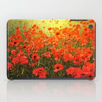 Field of poppies iPad Case