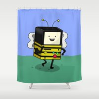 BEE-MO Shower Curtain