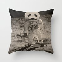 One Small Step For Man, One Giant Panda For Mankind Throw Pillow