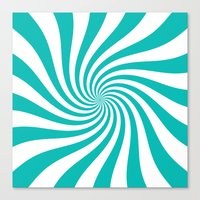 Swirl (Tiffany Blue/White) Canvas Print