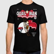 The Dark Quail SMALL Mens Fitted Tee Black