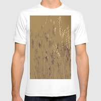 Thin Branches Sepia Mens Fitted Tee White SMALL