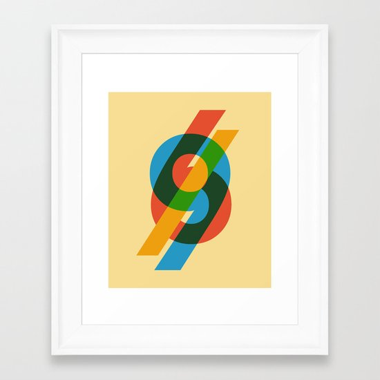 six to nine Framed Art Print
