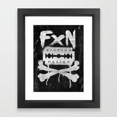 Fiction Design Framed Art Print