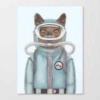 Scuba Cat Canvas Print
