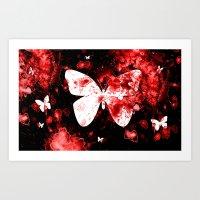 Butterfly Splatter Art Print