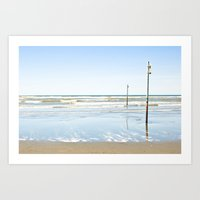 ocean shores (five) Art Print