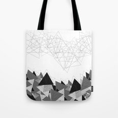 Triangle Grey Tote Bag