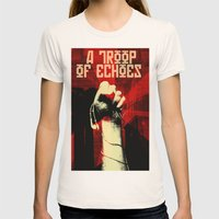 a troop of echoes poster Womens Fitted Tee Natural SMALL