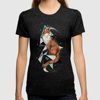 Foa The Fox Womens Fitted Tee Tri-Black SMALL
