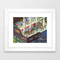 Zombie Mall... Framed Art Print