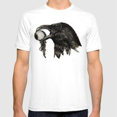 The Crows Are Waiting Mens Fitted Tee White SMALL
