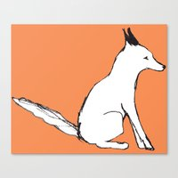 Canvas Print featuring A Fox in The Park by Katie O'Hagan
