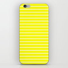 Horizontal Lines (White/Yellow) iPhone & iPod Skin