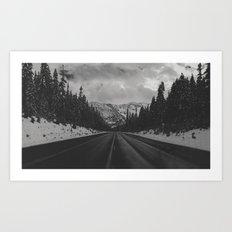 December Road Trip in the Pacific Northwest Art Print