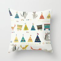 Wolf Pattern Throw Pillow