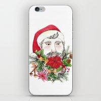 Santa Stuffed Beard iPhone & iPod Skin