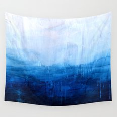 All good things are wild and free - Ocean Ombre Painting Wall Tapestry