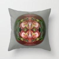 Four Flower Globe Throw Pillow