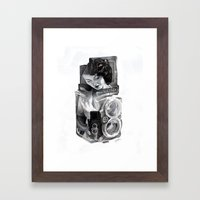 Bunny Blue Framed Art Print