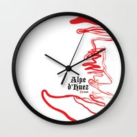 Famous Climbs: Alpe d'Huez 2, Old World Wall Clock