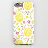 Watercolor floral pattern with doily iPhone 6 Slim Case