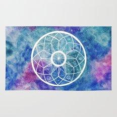 Watercolour Cosmic Mandala Rug